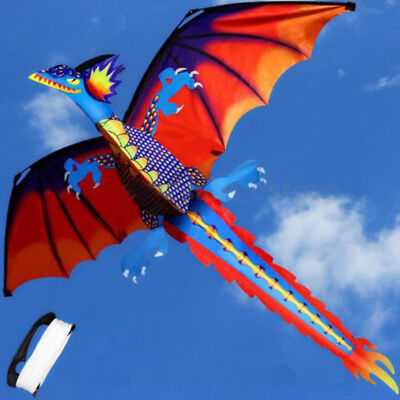 Classical Funny 3D Dragon Kite Single Line With Tail Outdoor Sports Toy Children