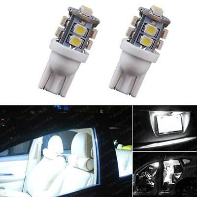 2pcs White T10 License Plate Indoor reading LED Light Bulbs 194 168 912 921 W5W