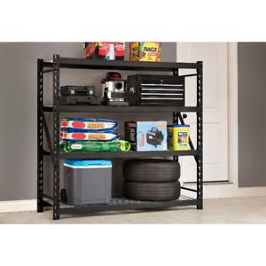 2 Whalen Black 4 shelf Storage Racks