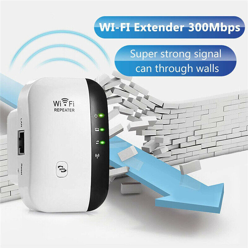 WiFi Range Extender Super Booster 300Mbps Superboost Boost Speed Wireless 1Pcs