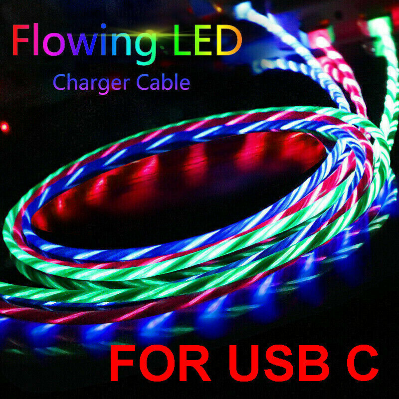 led light up flowing flashing visible usb