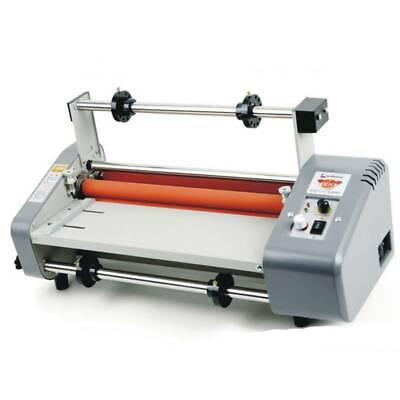 New Roll Laminator Four Rollers Hot Cold Laminating Machine 220v A3 Paper 8350t
