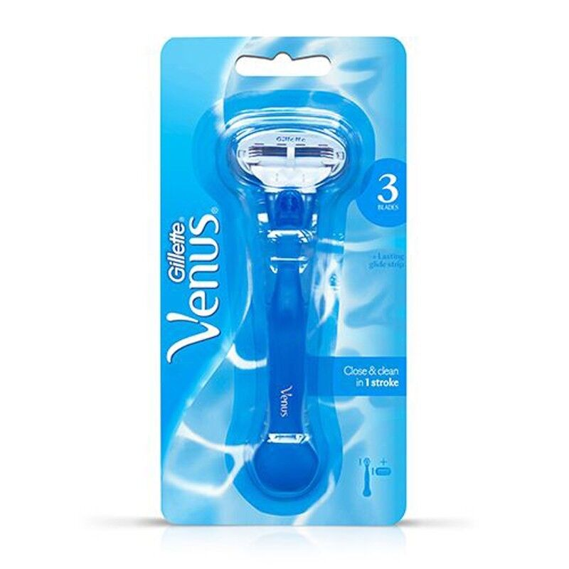 Gillette Venus Razor Handle 1 Cartridge New 3 Blades - $3.29