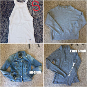 Abercrombie, Aritzia, Hollister, AE, H&M Womens Clothes & More!