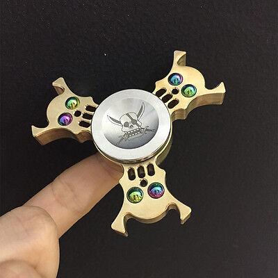 Halloween gift skull fidget hand spinner rainbow gyro finger spinner edc toy