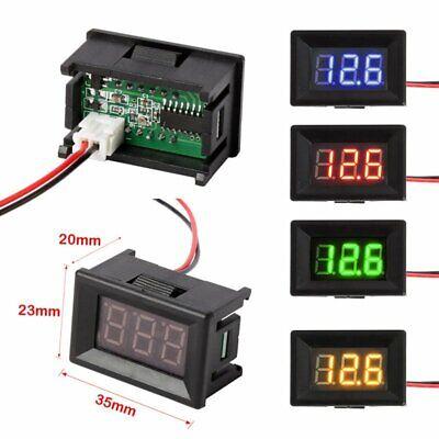 2 Wire Small Led Digital Display Voltmeter Ammeter Voltage Panel Motor Detector