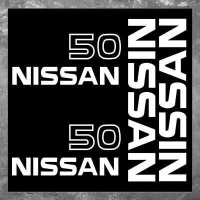 Nissan 50 Forklift Vinyl Decal Sticker Set