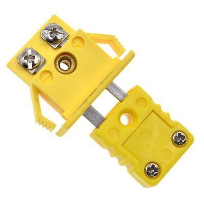 K Type One Set Thermocouple Miniature Socket Panel Mount Alloy Plug Connector