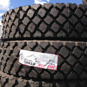 2, BRAND NEW LONG MARCH LM216 ROADLUX 11R22.5 STEER TIRES $580.