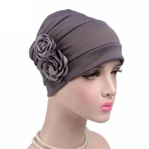 Women's Hat Soft Night Sleep Hat Turban Headwear Beanie Ha