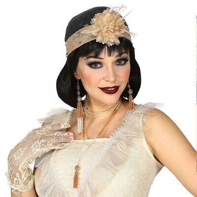 20er Jahre Damen Gatsby Flapper Charleston Kostüm Zubehör Kopfschmuck Kette (Flapper Kostüm Accessoires)