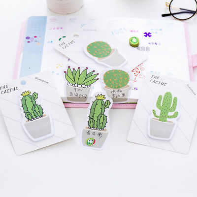 2 Set Cactus Shape Creative Paster Memo Pad Stickers Sticky Note N Times Posted