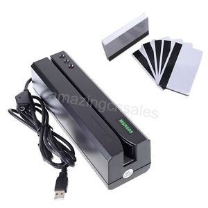 MSR605 Magnetic Card Reader Writer Encoder Stripe Swipe Credit Magstripe MSR206