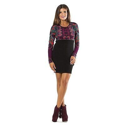 Italienische Damen Langarm (Kleid Damenkleid Minikleid Langarm zwei Farben Gr. S bis L italienische Mode  )