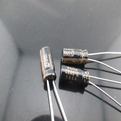 2pcs Elna Cerafine Roa 3.3mfd 50v 3.3uf 5x11mm Electrolytic Capacitor