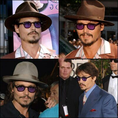 Johnny Depp Robert Downey Tinted Lens Vintage Sunglasses Retro Celebrity (Robert Sunglasses)