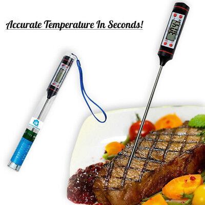 LCD Digitales Fleischthermometer Küchenthermometer für Koch BBQ Milch Putensteak (Fleisch, Digitale Thermometer)