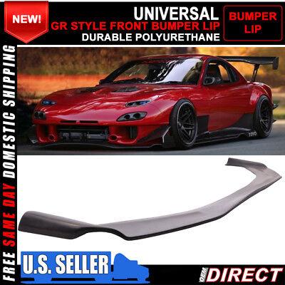 For GR Style Universal Front Bumper Lip Splitter Spoiler FLEXIBLE POLY