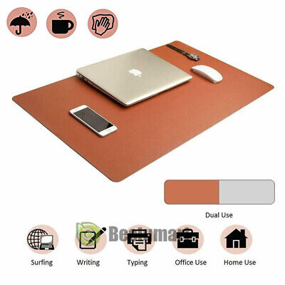 Large Computer Laptop Mouse Pad Keyboard Desk Mat Pu Leather Double-sided Use Us