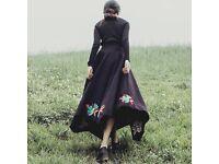 vintage hand embroider skirt