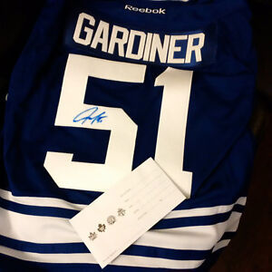 SIGNED JAKE GARDINER TORONTO MAPLE LEAF JERSEY