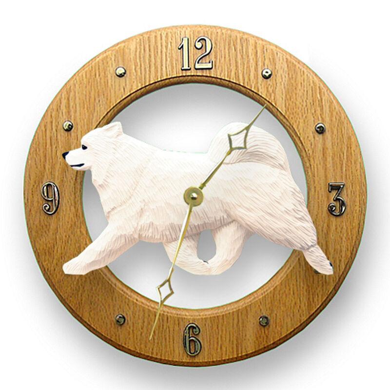 Samoyed Wood Clock