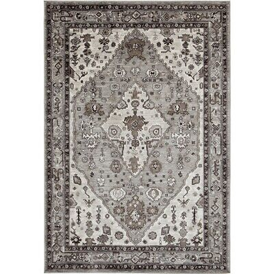 Abacasa Sonoma Jewels Grey-Natural-Ivory 5x8 Area Rug