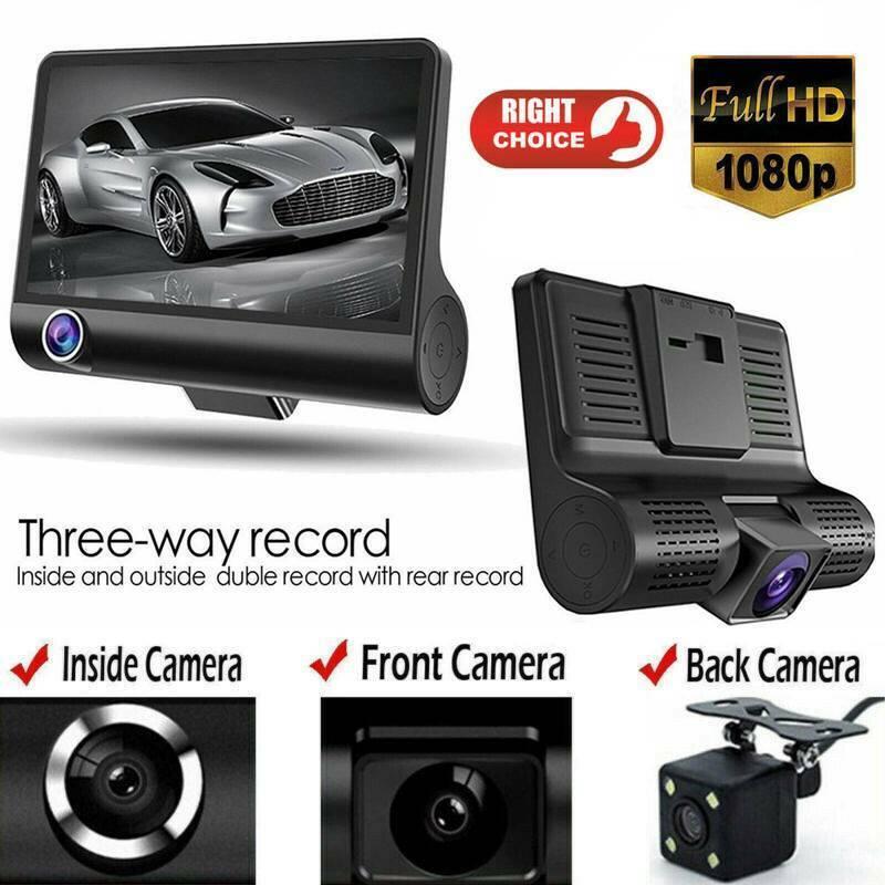Car 1080P DVR Dual Lens  Dash Cam Front and  G-sensor Rear V