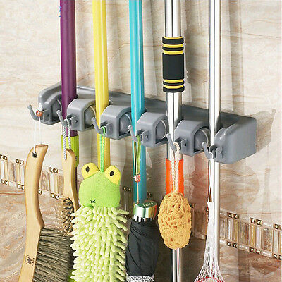 Smart&Cool Mop and Broom Holder Wall Mounted Garden Tool Storage Tool Rack New