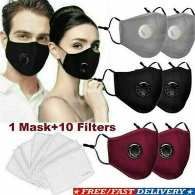 4 Color Respirator Face Mask With PM2.5 Activated Carbon Mask Anti Air Pollution