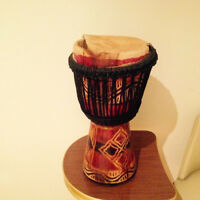 Hand carved djembe hand drum