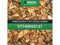 20mm golden flint gravel