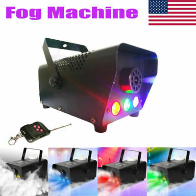 500W Fog Smoke Machine RGB LED Light DJ Bar Theater Stage Effect Wireless Remote - Fog Machine Remote