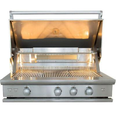 """CALIBER CrossFlame Pro 42"""" Built-in NG Grill with Insulated Jacket & Vinyl Cover"""