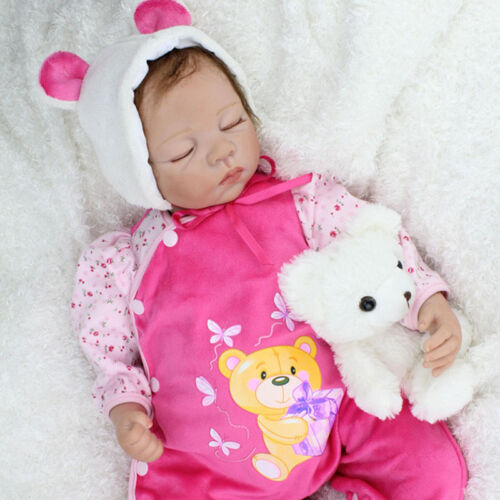 "22"" Reborn Baby Boy Dolls Real Life Vinyl Silicone Belly Baby Doll Birthday Gift"