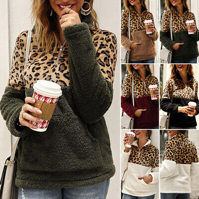 Women's Zipper Pullover Soft Fuzzy Fleece Sweatshirt Jacket Sweater Winter Coat Fleece Winter Pullover Sweatshirt