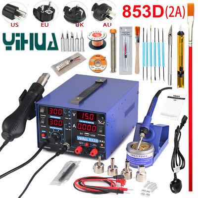 Yihua 853d Usb 2a Soldering Station Rework Hot Air Gun Solder Iron Welding Tools
