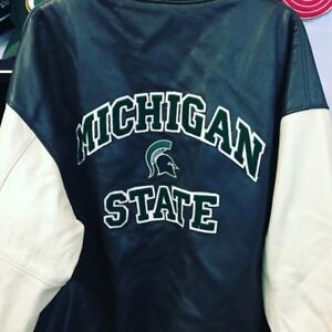ROOTS MICHIGAN ST LEATHER JACKET