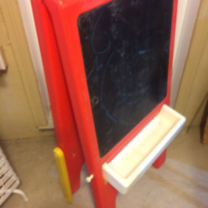 EASEL_ Double Sided Easel and Blackboard