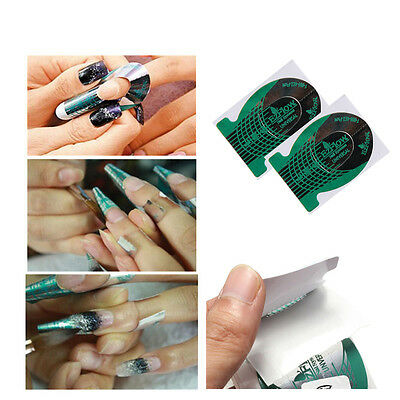 20 Nail Art Green Guide Forms UV Gel Acrylic Tips Manicure Stickers