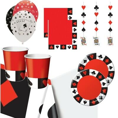 Casino Party Supplies Tableware, Decorations, Banners, Ballo