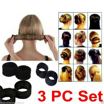 3 PCS Hairagami Hair Bun Updo Fold Wrap & Snap Styling Tool Pelo Cabello