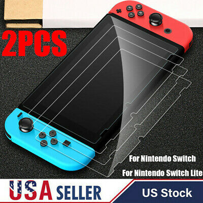 For Nintendo Switch Lite Premium Case Skin Tempered Clear Glass Screen Protector