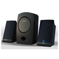 Kinyo 2.1 Amplified Speaker System with Subwoofer - 20 Watts RMS