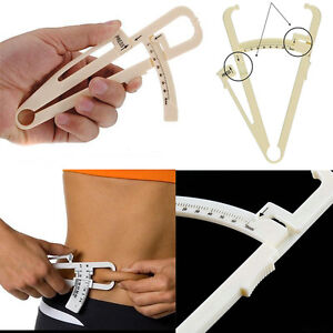 Body Fat Tester Calipers Weight Loss Fitness Health Charts Manual Slimming Diet