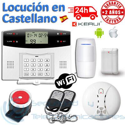KIT ALARMA GSM PSTN WIFI HUMOS INCENDIO CASTELLANO ESPAÑOL ANDROID HUMO