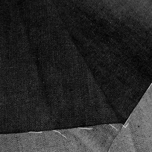 denim Schwarz Sommer JEANS-Stoff mit Stretch robuster Baumwoll-Stoff Meterware