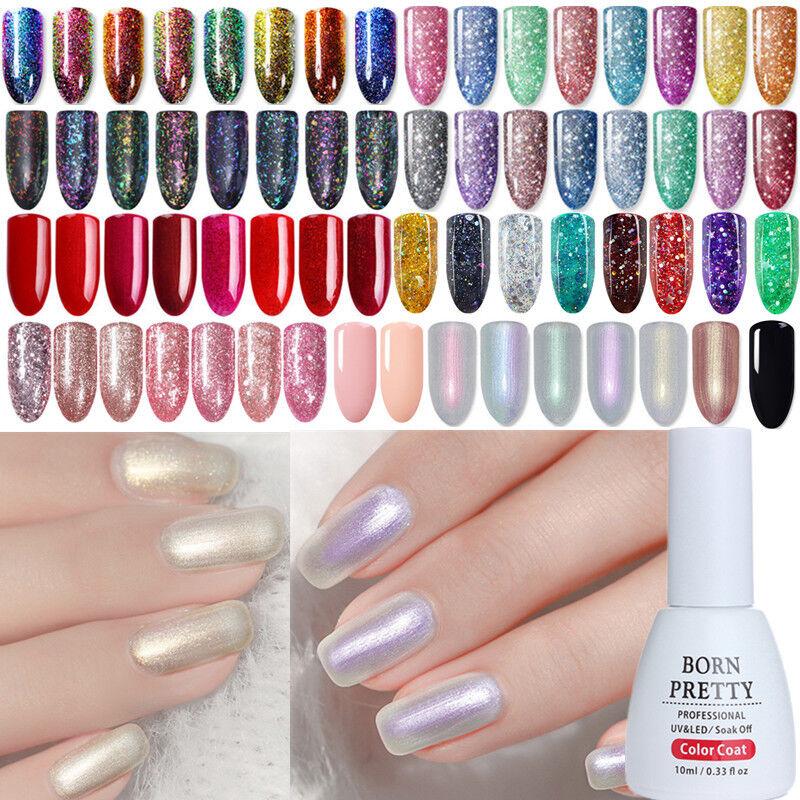 Born Pretty 10ml Shimmer Glitter UV Gel Nail Polish Sequins Varnish ...