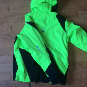 Spyder Ski insulated ski jacket - neon green large