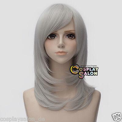 Anime Cosplay Wig Silber Weiß 45cm Haar Perücke Gelatt Halloween Mittellang Mode